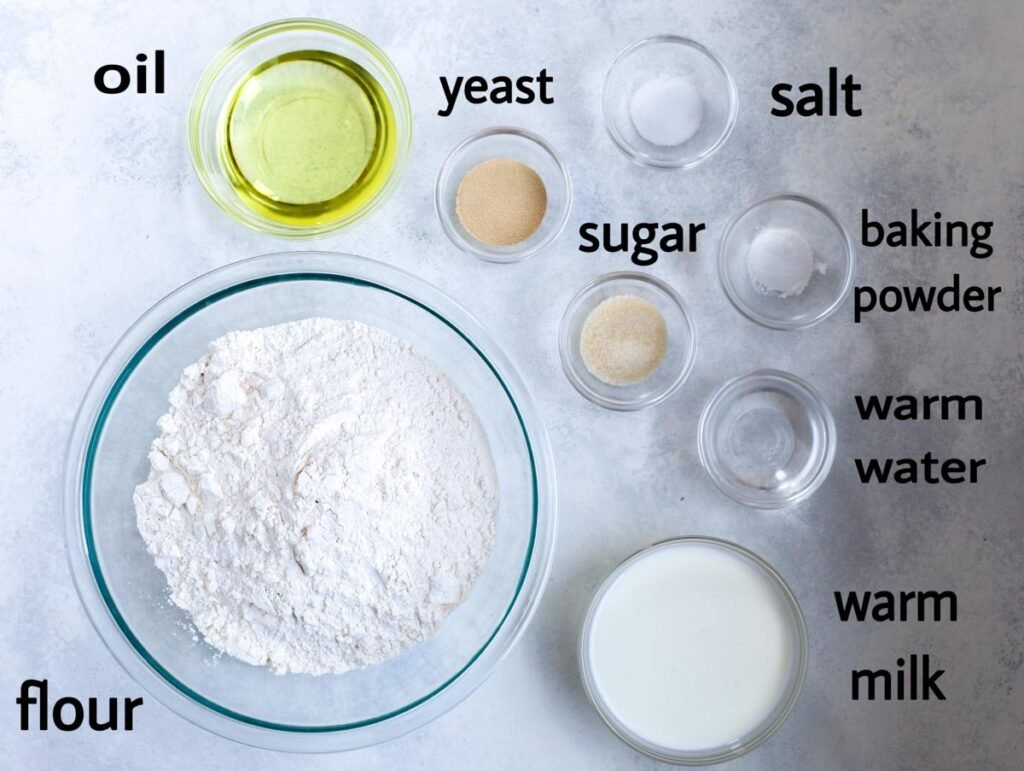 spinach pie dough ingredients laid out
