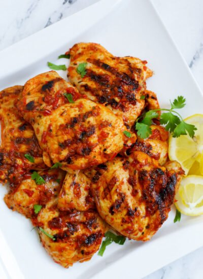 a plate of Harissa Chicken