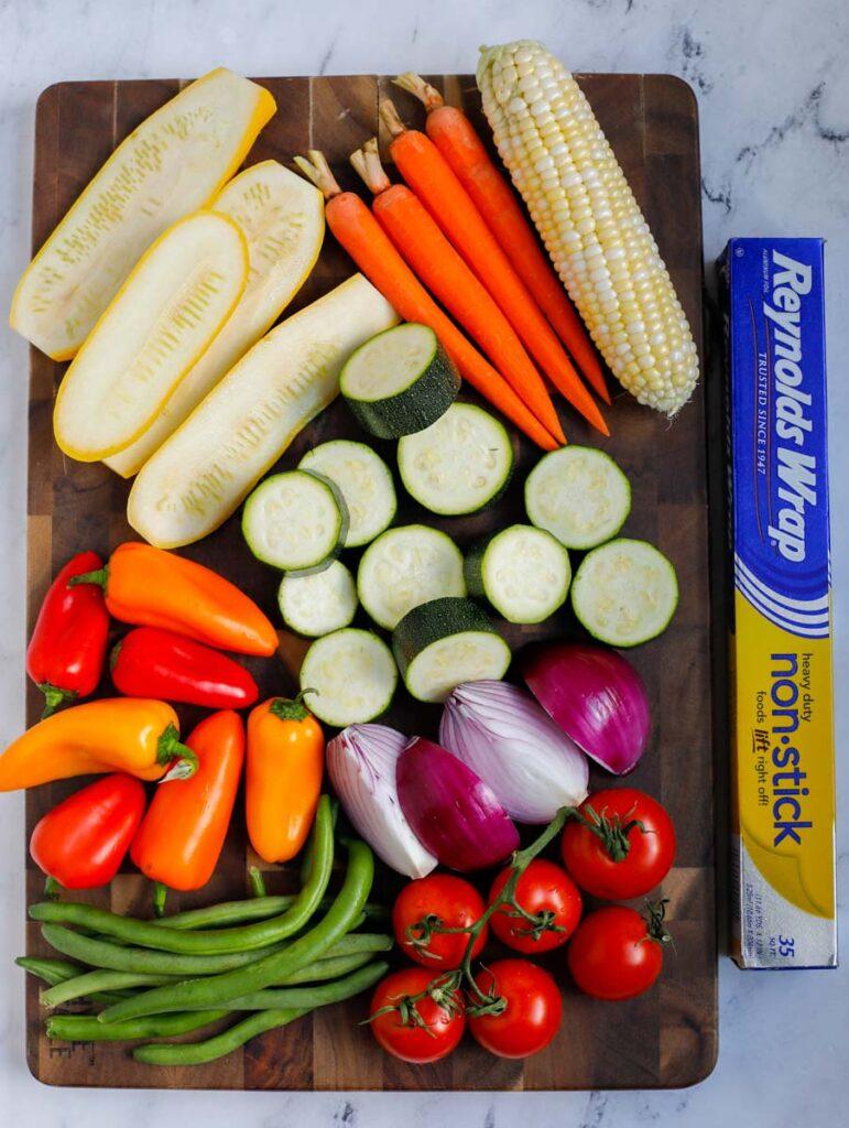 ingredients for Best Grilled Vegetables