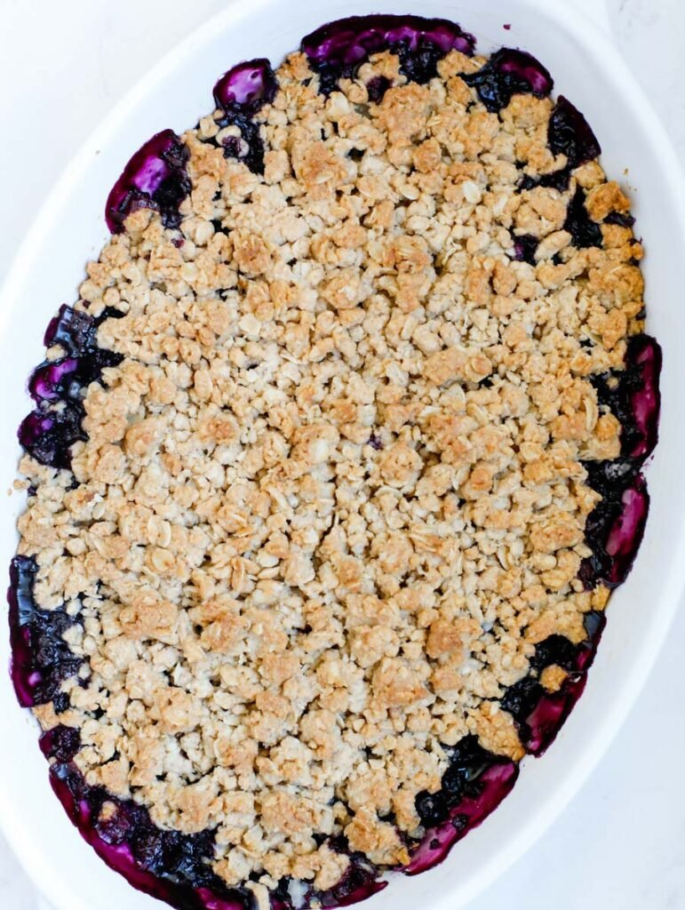 cooked Blueberry Crisp Recipe