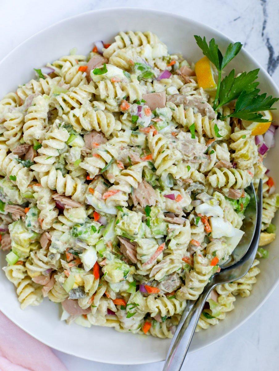 Tuna Pasta Salad Recipe - Cookin' with Mima