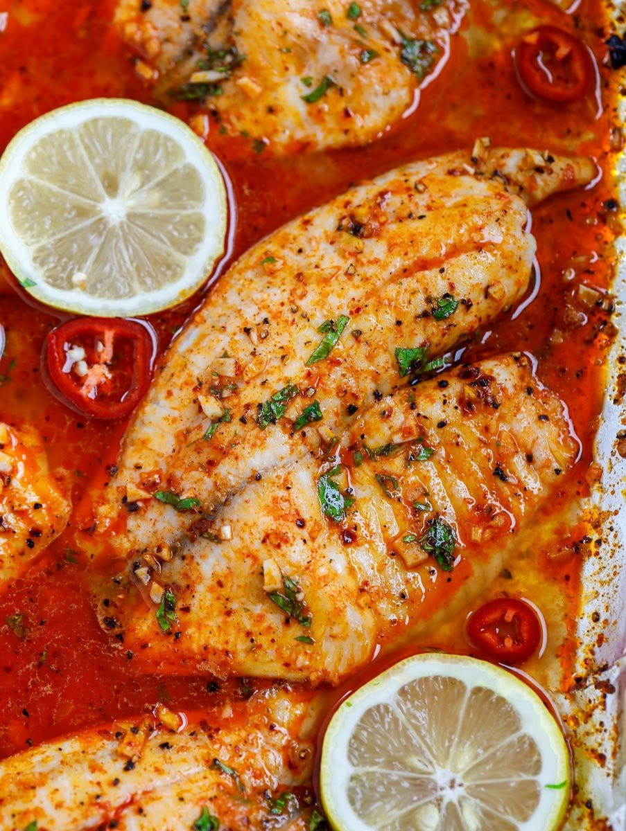 Spicy Lemon Baked Tilapia Recipe Cookin With Mima