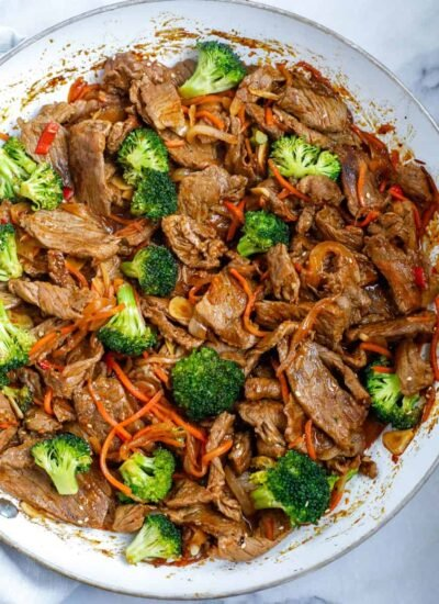 Beef and Broccoli Stir Fry in a bowl