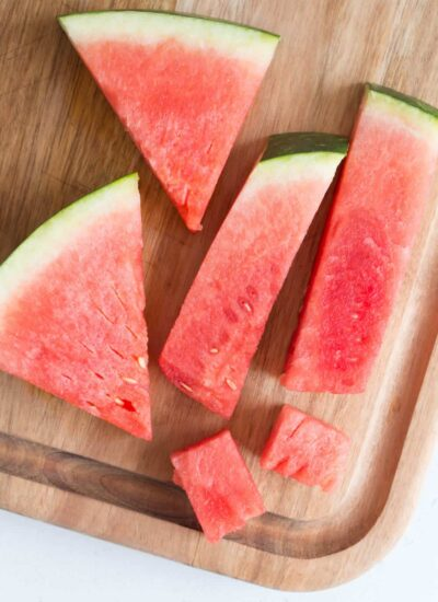watermelon cut into different shapes