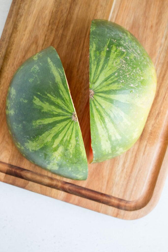 watermelon cut in quarters