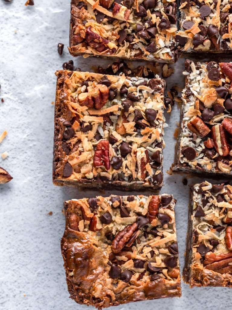 top down photo showing the magic bars pieces