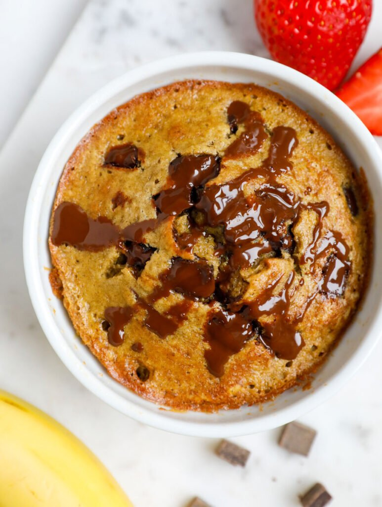Baked oatmeal with banana chocolate chips.