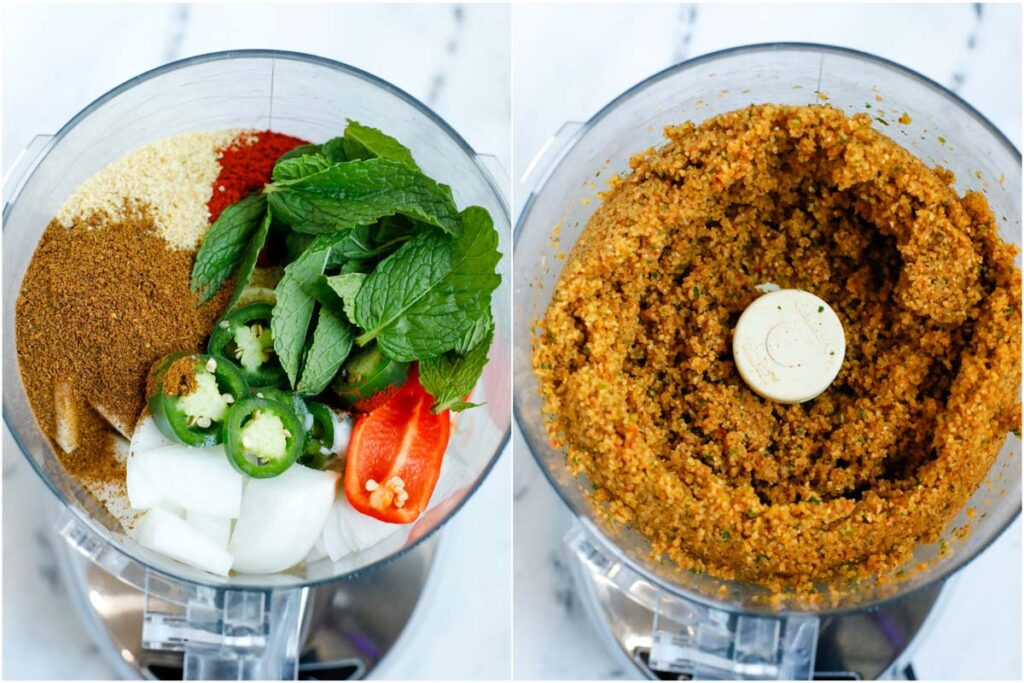 kamouneh mixture in a food processor