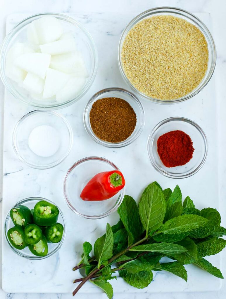 kamouneh ingredients laid out