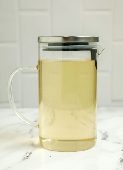 Simple syrup, Ater, in a jar.
