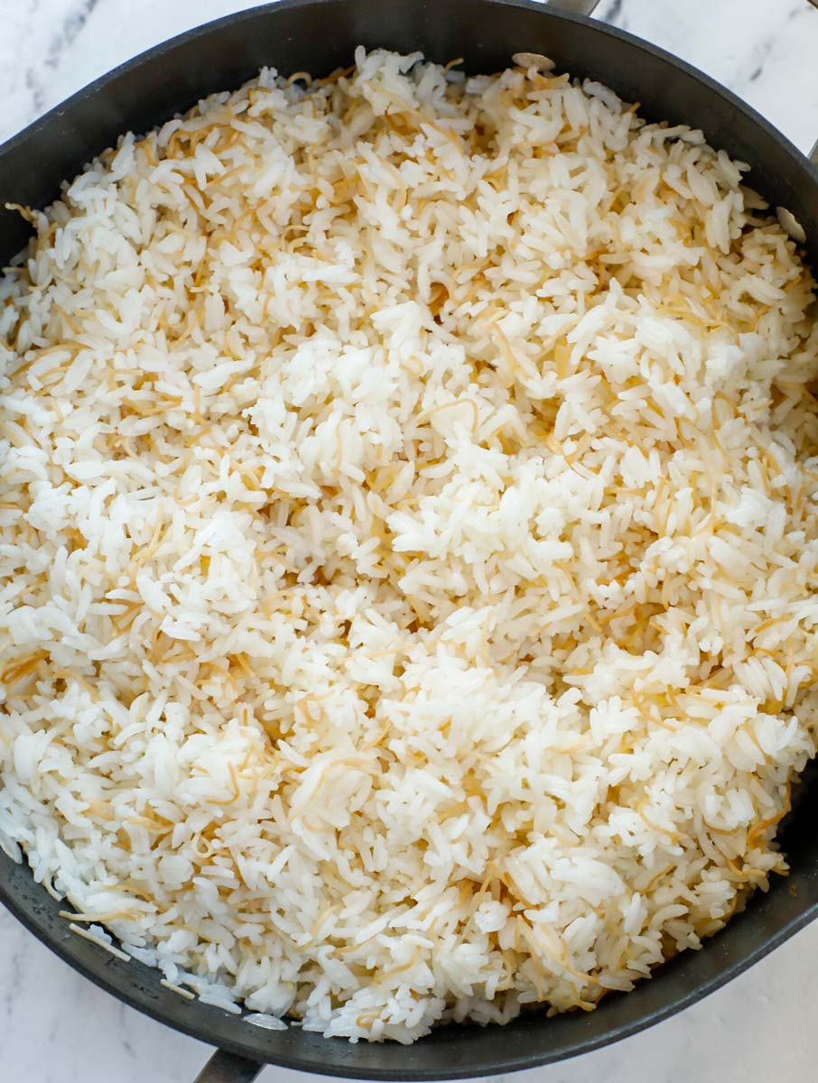 vermicelli rice cooked in a pot