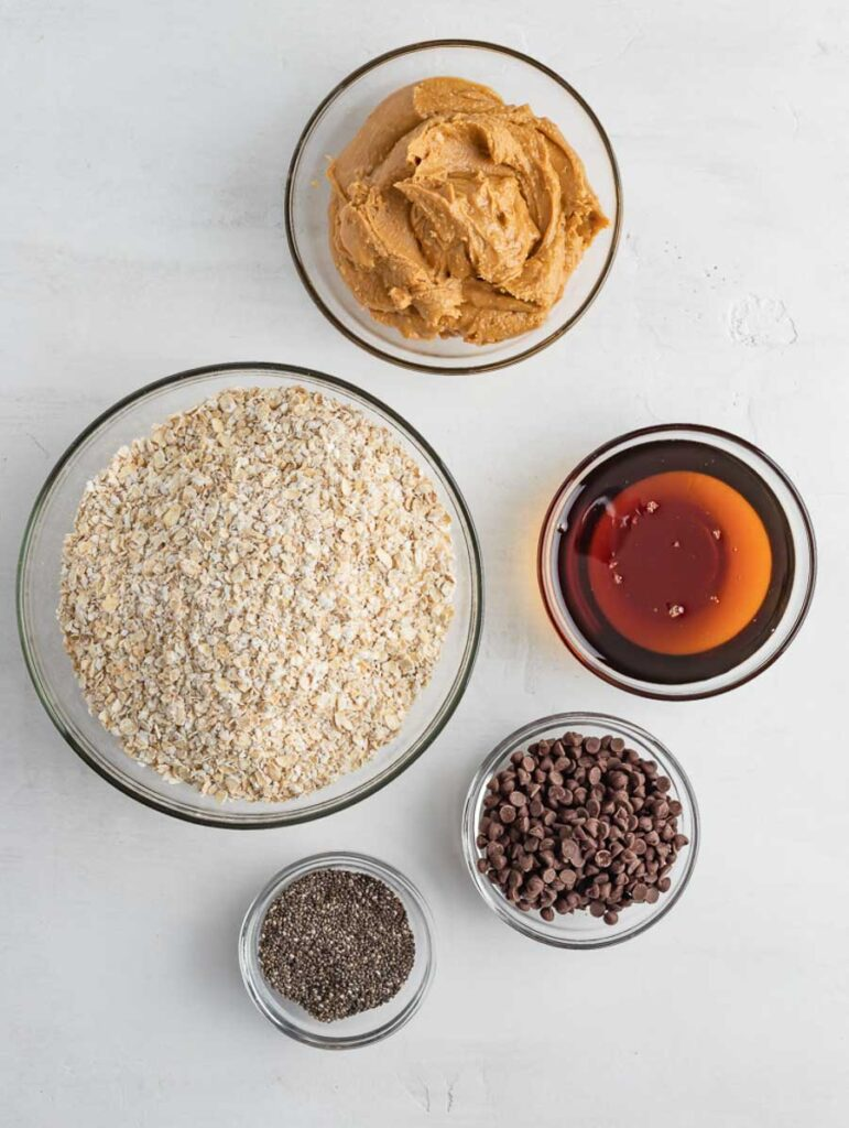 ingredients of energy balls laid out