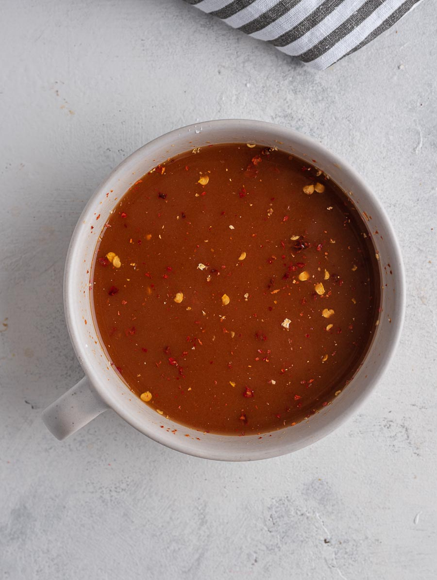 mongolian sauce in a cup