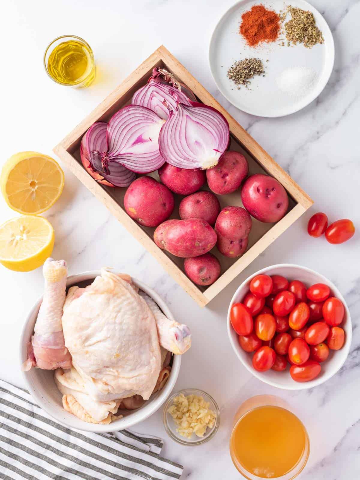 ingredients of Mediterranean Chicken recipe