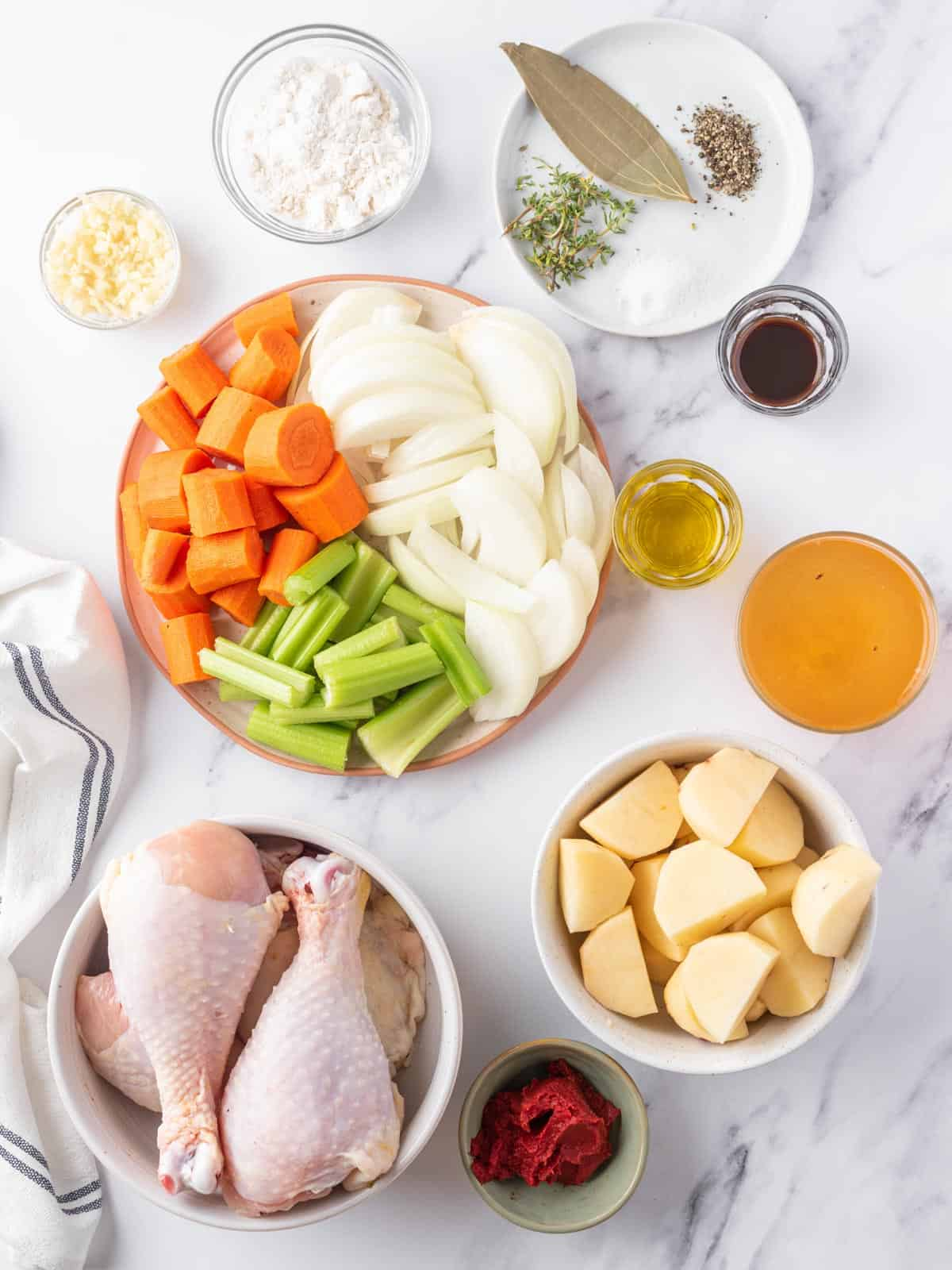 ingredients of chicken stew recipe
